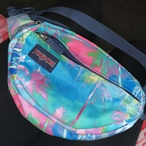 Tropical Pattern JanSport Fanny